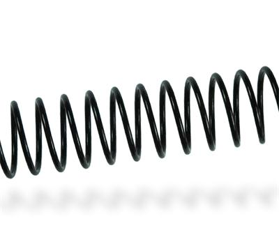 Espiral metálico Negro - Paso 5mm - Ø12mm - 200 uds