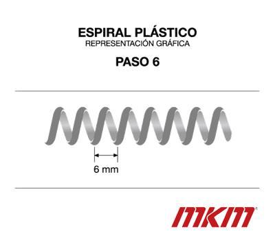 Espiral plástico Black - Paso 6 mm - Ø28mm - 175 uds