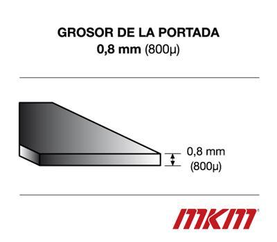 Portadas Cartón gofrado - Din A4 - azul - 0,8 mm - 50 unidades